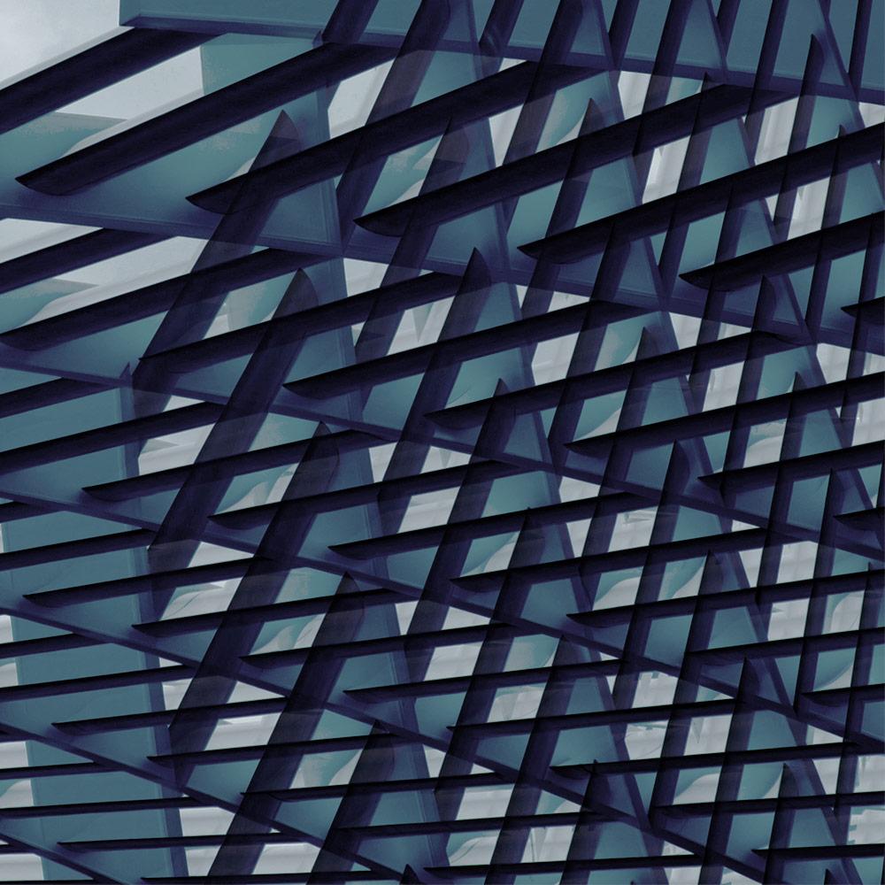 Pattern blu forme geometriche | Kléral System